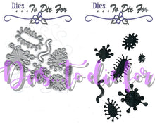 Load image into Gallery viewer, Dies ... to die for metal cutting die - Germs / Virus structure