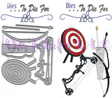 Load image into Gallery viewer, Dies ... to die for metal cutting die - Bow and arrow Archery target practice - Hunting