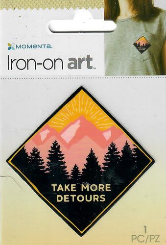 Momenta small 4color Iron-on Art for fabric - Take more detours