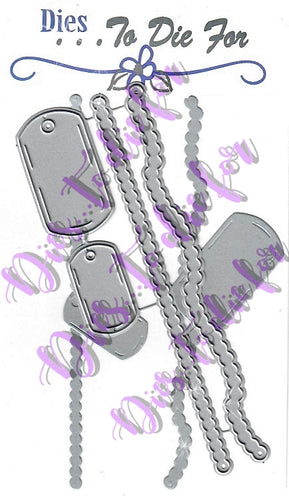 Dies ... to die for metal cutting die - Dog Tag border