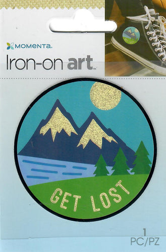 Momenta small 4color Iron-on Art for fabric - Get lost mountain