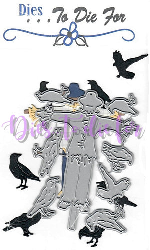 Dies ... to die for metal cutting die - Scarecrow with Crows / ravens