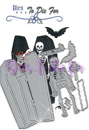 Dies ... to die for metal cutting die - Skeleton with Coffin - Spider bat No vacancy sign