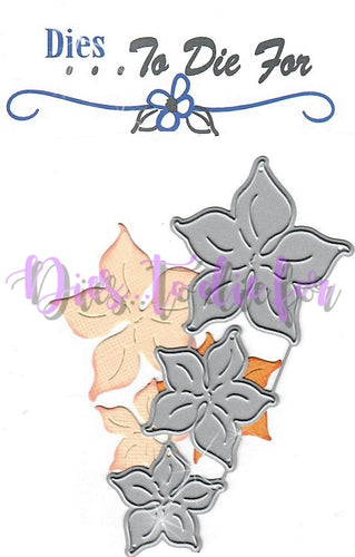 Dies ... to die for metal cutting die - Pumpkin Flower set of 3