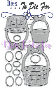 Dies ... to die for metal cutting die - Easter Basket with Eggs trio
