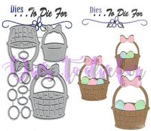Load image into Gallery viewer, Dies ... to die for metal cutting die - Easter Basket with Eggs trio