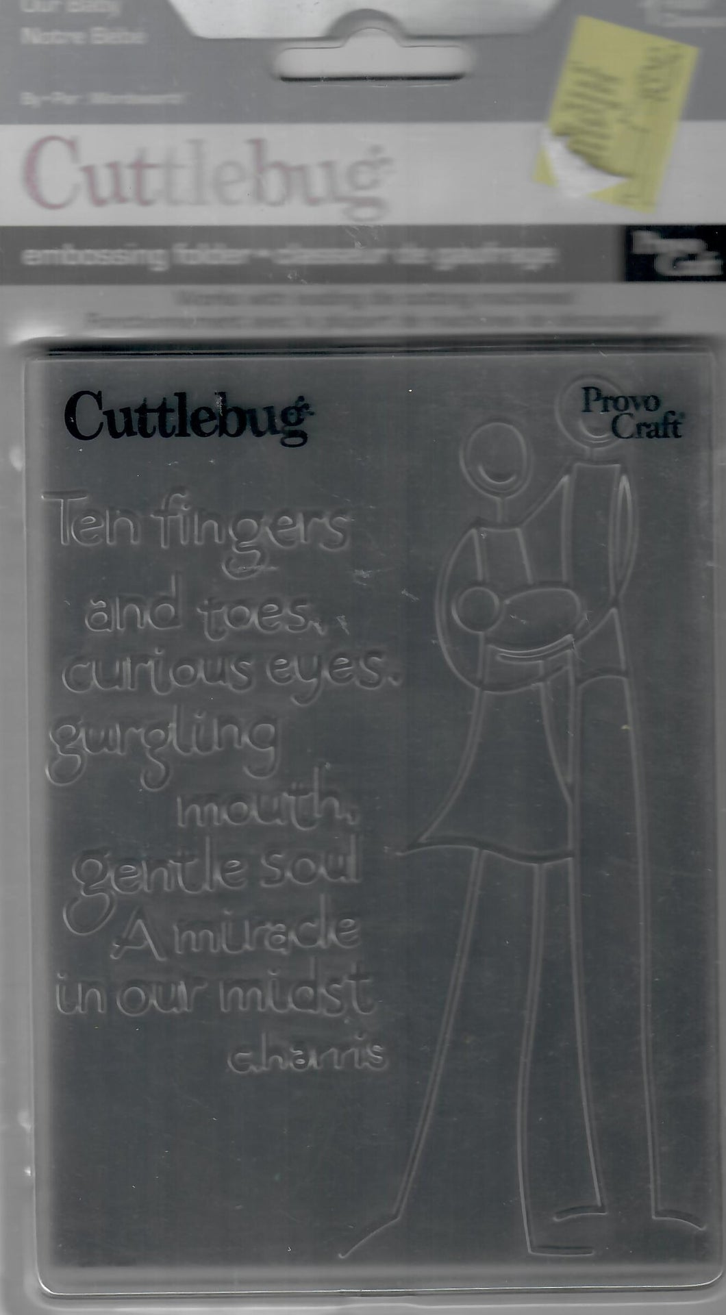 *Crafting for a cause - Cuttlebug embossing folder -  packaged - Our baby
