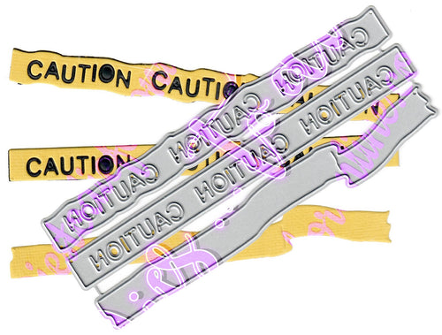 Dies ... to die for metal cutting die - Caution tape border set