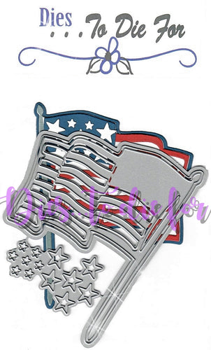 Dies ... to die for metal cutting die - Waving Flag - USA American