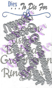 Dies ... to die for metal cutting die - Wedding words set - Groom