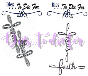 Dies ... to die for metal cutting die - Faith and Jesus word Cross
