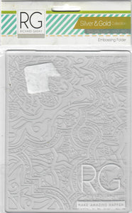 Richard Garay embossing folder A2 - Silver and gold collection  - Brocade code