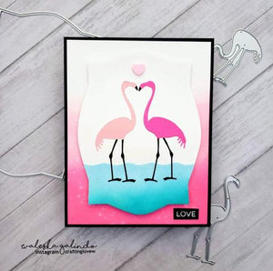 Gina Marie Metal cutting die -  Flamingo Pair set