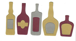 Dies ... to die for metal cutting die - Alcohol / Booze Glass Bottle set