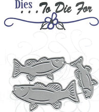 Load image into Gallery viewer, Dies ... to die for metal cutting die - Fish - Bass