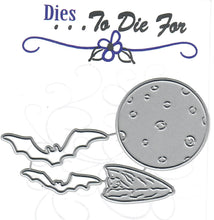Load image into Gallery viewer, Dies ... to die for metal cutting die - Bats and Moon