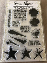 Load image into Gallery viewer, Gina Marie Clear stamp set - Beach layered
