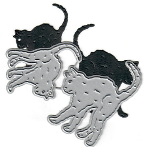 Dies ... to die for metal cutting die - Black scardy Cats