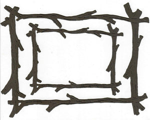 Dies ... to die for metal cutting die - Branch / twig / stick frame set
