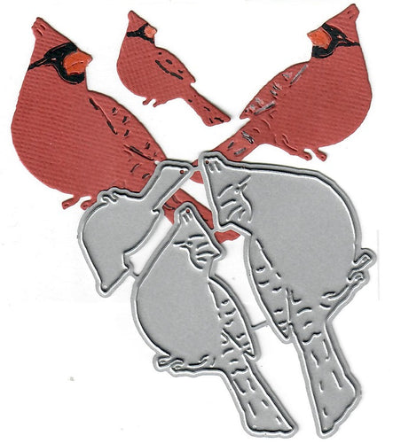 Dies ... to die for metal cutting die - Cardinal Family trio - Sitting