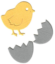 Load image into Gallery viewer, Dies ... to die for metal cutting die - Lil' Easter Chick and Egg