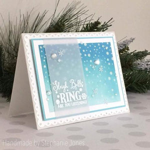 Gina Marie Clear stamp set - Christmas Decorative sentiments