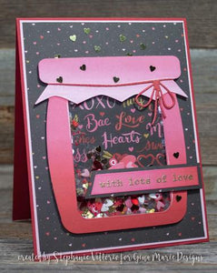 Gina Marie Metal cutting die - Cloth top Jar with Hearts