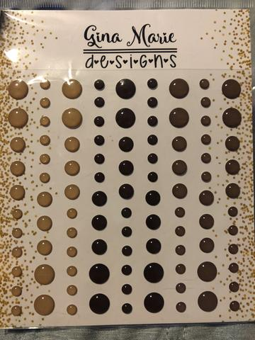 Gina Marie Enamel Dots set - Coffee Bean Clear