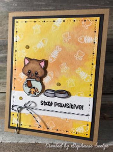 Gina Marie Clear stamp set - Cute kitty