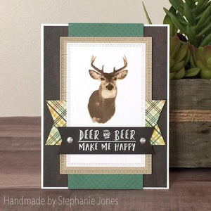 Gina Marie Clear stamp set - Deer layered