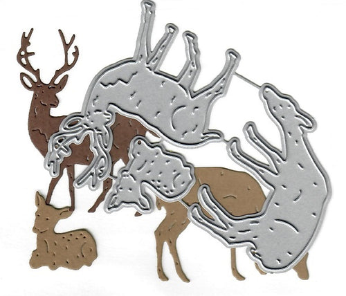 Dies ... to die for metal cutting die - Deer set - Doe Fawn Buck Family