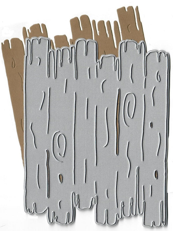 Dies ... to die for metal cutting die - Driftwood background plate