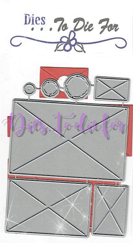 Dies ... to die for metal cutting die - Envelope set with seal - Rectangle 2D