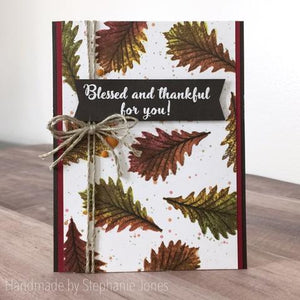 Gina Marie Clear stamp set - Fall leaves