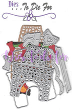 Load image into Gallery viewer, Dies ... to die for metal cutting die Fireplace - Santa's