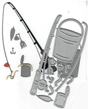 Load image into Gallery viewer, Dies ... to die for metal cutting die - Fishing pole set