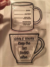 Load image into Gallery viewer, Gina Marie Clear stamp set - Funny Coffee Cups