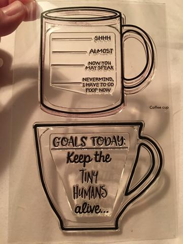 Gina Marie Clear stamp set - Funny Coffee Cups