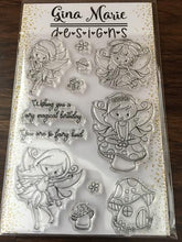 Load image into Gallery viewer, Gina Marie Clear stamp set - Garden Fairy