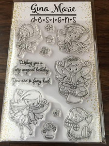 Gina Marie Clear stamp set - Garden Fairy