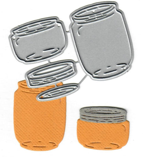 Dies ... to die for metal cutting die - Glass Jars with lid - Mason
