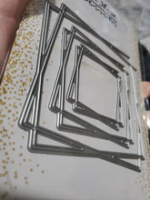 Load image into Gallery viewer, Gina Marie Metal cutting die -  Geometric Square double frame