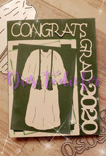 Load image into Gallery viewer, Dies ... to die for metal cutting die - Grad Gown large - honors stole & tassel, Masters stole
