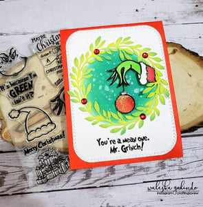 Gina Marie Clear stamp set - Grinch Themed
