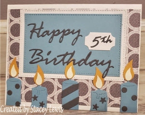 Dies ... to die for metal cutting die - Birthday Candle X - Large