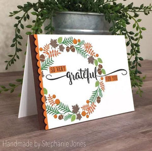 Gina Marie Clear stamp set - Happy Fall