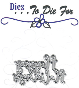 Dies ... to die for metal cutting die - Happy Holidays word