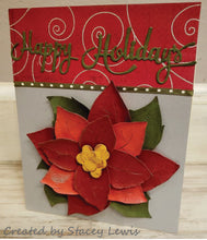 Load image into Gallery viewer, Dies ... to die for metal cutting die - Poinsettia #1 x - large