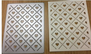 Gina Marie Metal cutting die - Argyle Heart background