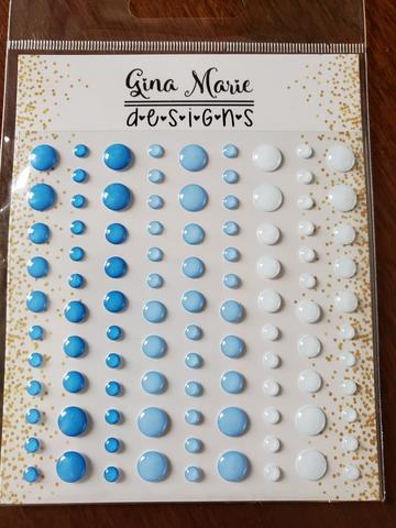 Gina Marie Enamel Dots set - Ice Blues
